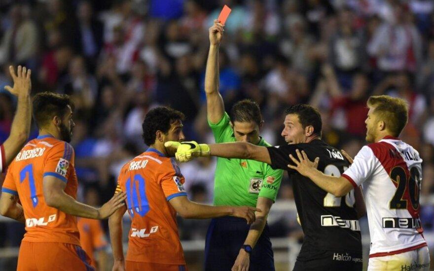 Jorge Garcia Morcillo užsidirbo raudoną kortelę