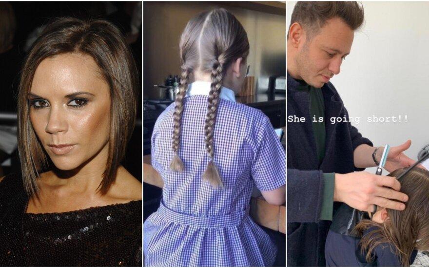Naujoji Harper Beckham šukuosena