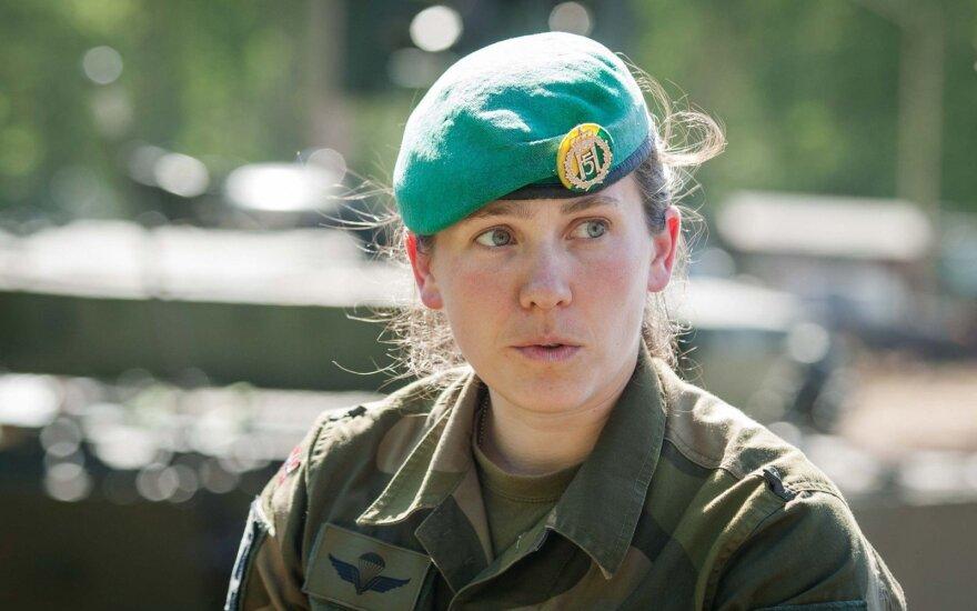 Tankų būrio vadė, leitenantė S. Johansen Willasen