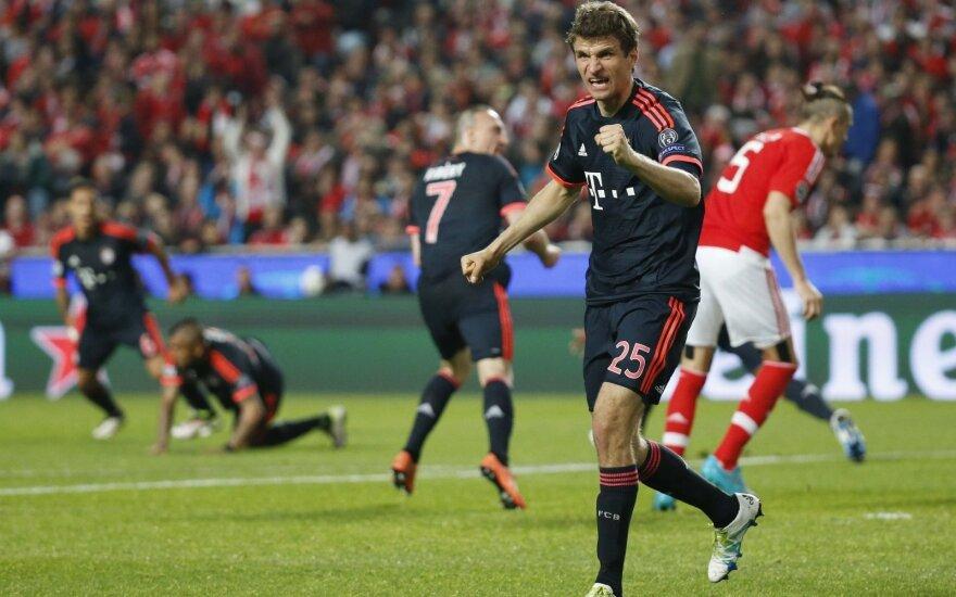 """""""Bayern"""" klubui nepavyko anksčiau laiko apginti Vokietijos futbolo čempiono titulą"""