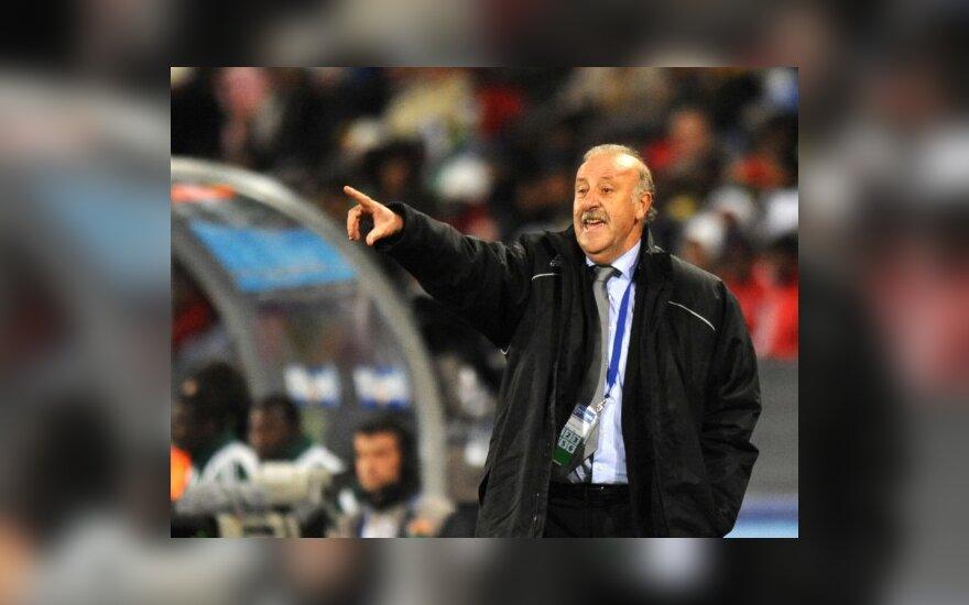 Ispanijos rinktinės treneris V.Del Bosque: jau atpratome nuo pralaimėjimų