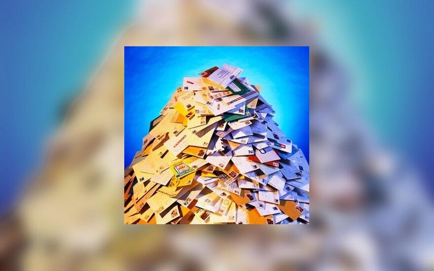 Per metus 11,5 proc. augo pašto ir pasiuntinių paslaugų rinka