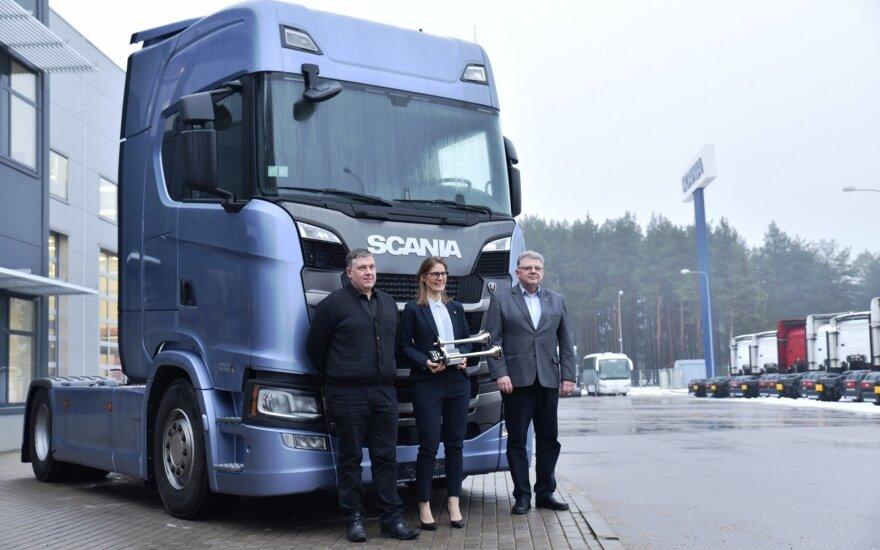 """Konkurso nugalėtoju tapo """"Scania"""" sunkvežimis"""