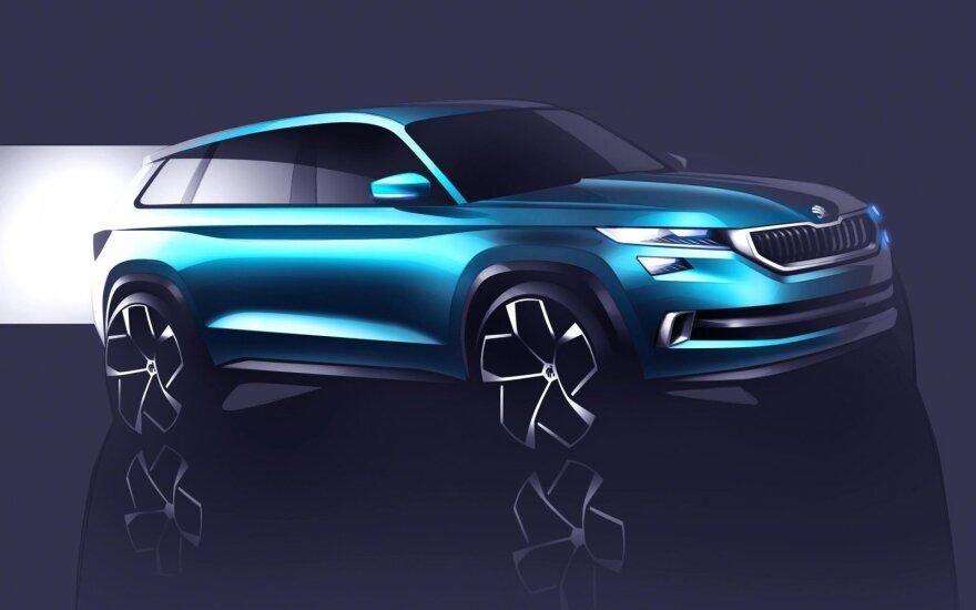 """Škoda VisionS"" eskizas"
