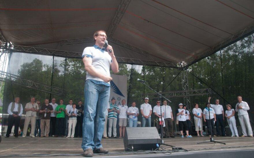 Viktoras Uspaskichas Darbo partijos sąskrydyje, DP nuotr.