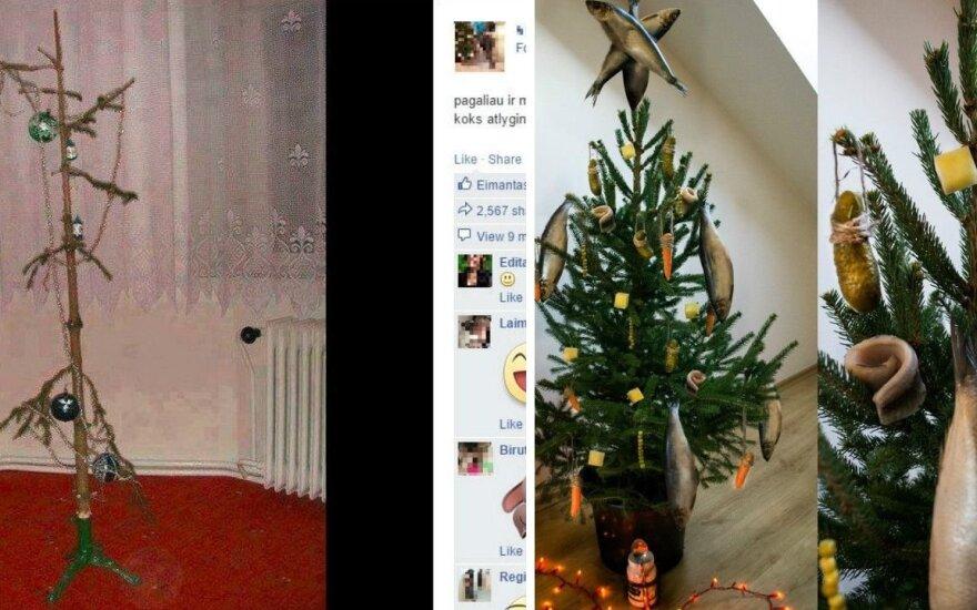 Pokštai su Kalėdų eglutėmis