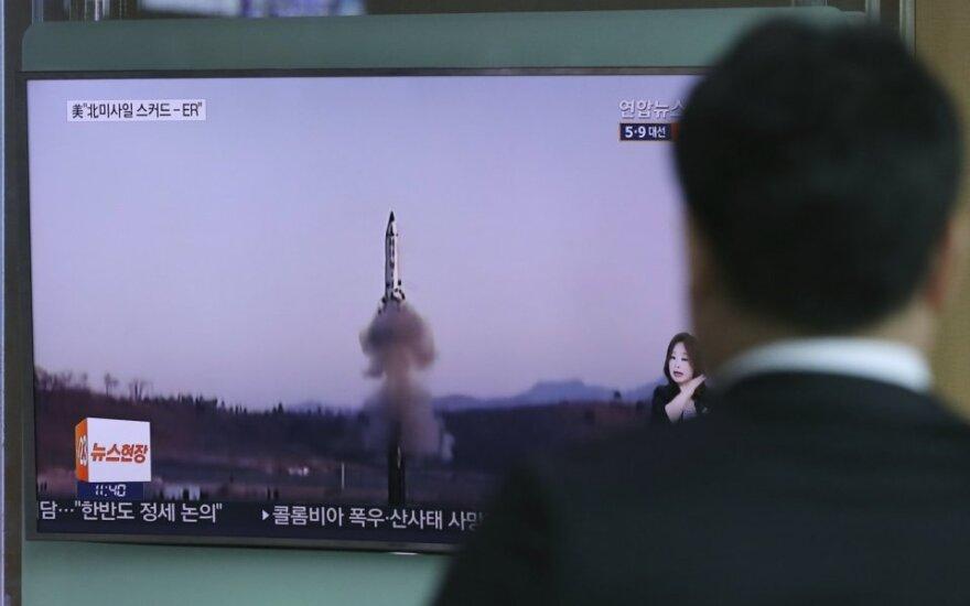 Pietų Korėja išbandė balistinę raketą