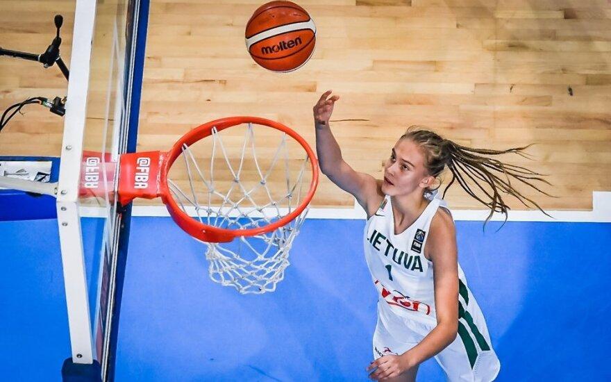 Jaunosios krepšininkės sėkmingai pradėjo pasirengimą pasaulio čempionatui