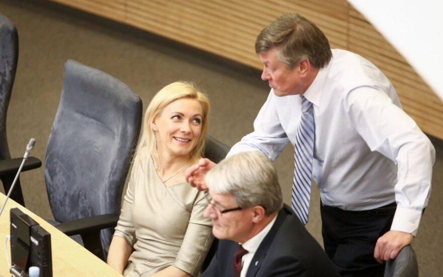 Vitalija Vožutaitė ir Artūras Paulauskas