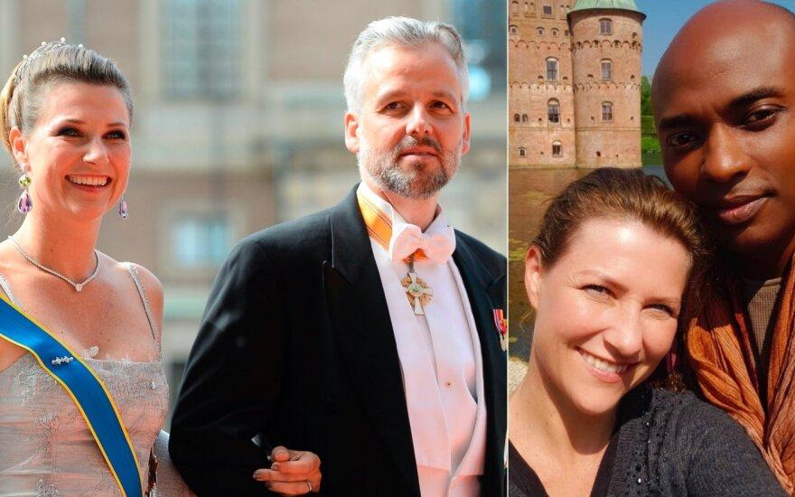 Princesė Martha Louise su vyru Ari Behn ir su Shaman Durek