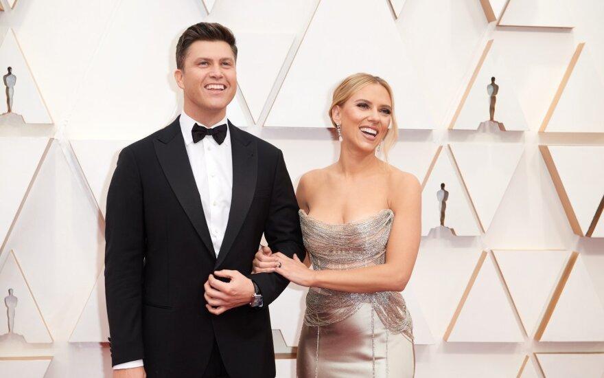 Scarlett Johansson ir Colin Jost