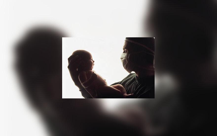 kūdikis, naujagimis, gimdyti, gydytojas
