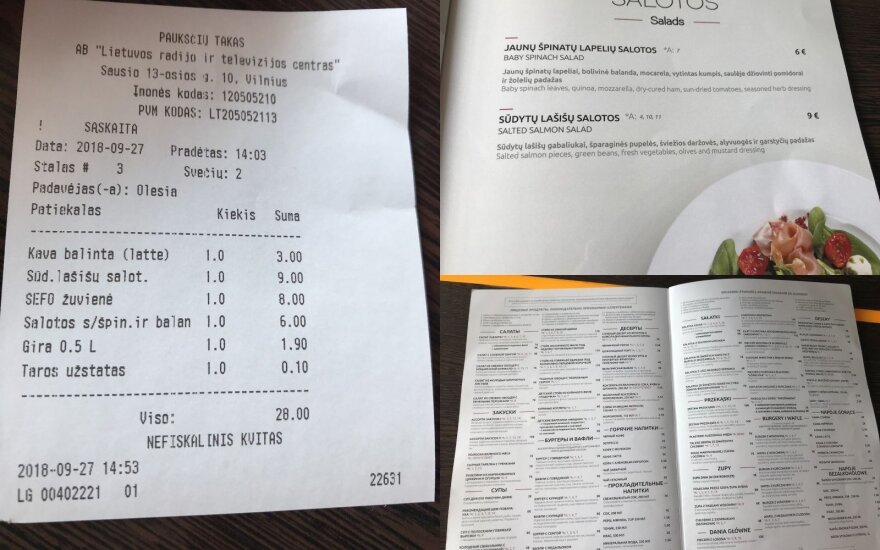 """""""Paukščių tako"""" meniu klientus suglumino: nejaugi lietuviams brangiau nei užsieniečiams?"""