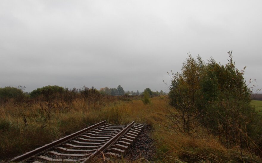 Demolished rails in Mažeikiai