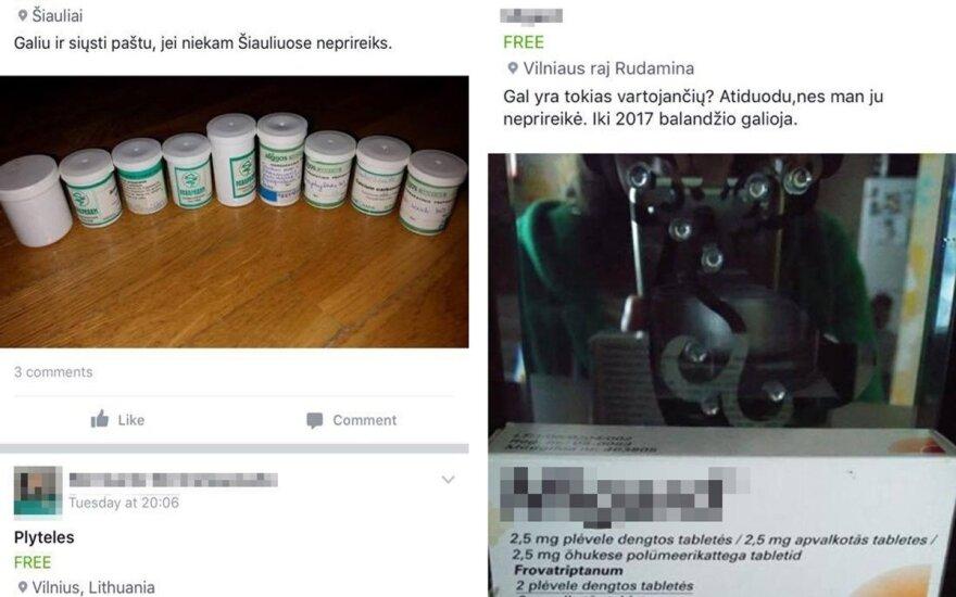 Internete dovanojami vaistai