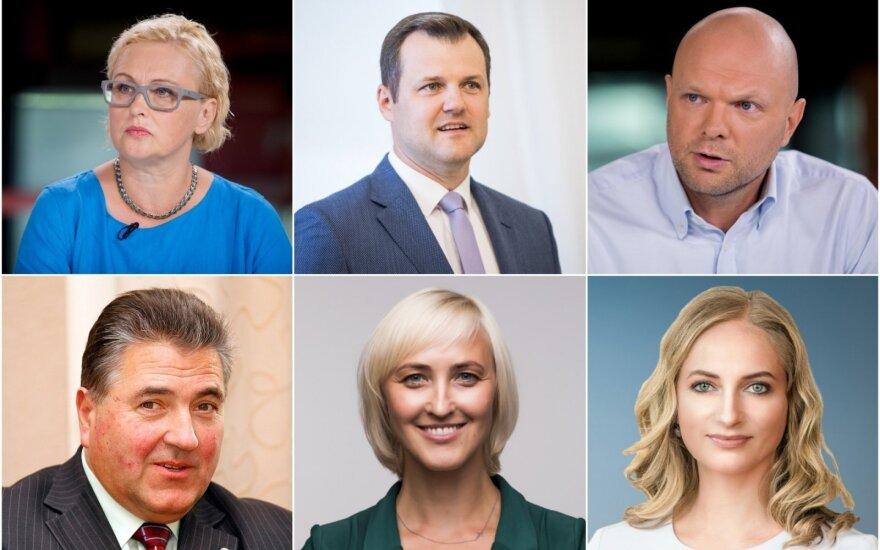 Dėl trijų laisvų Seimo narių vietų kovojantys politikai: Paulė Kuzmickienė ir Gintautas Paluckas, Kristupas Krivickas ir Rasa Petrauskienė, Rūta Janutienė ir Liudas Jonaitis.