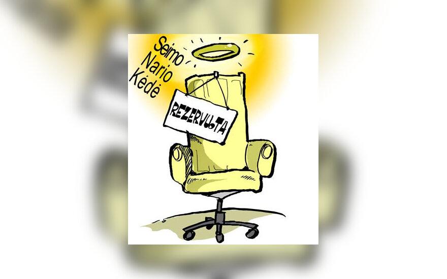 Seimas, rinkimai, Seimo narys, postas - karikatūra