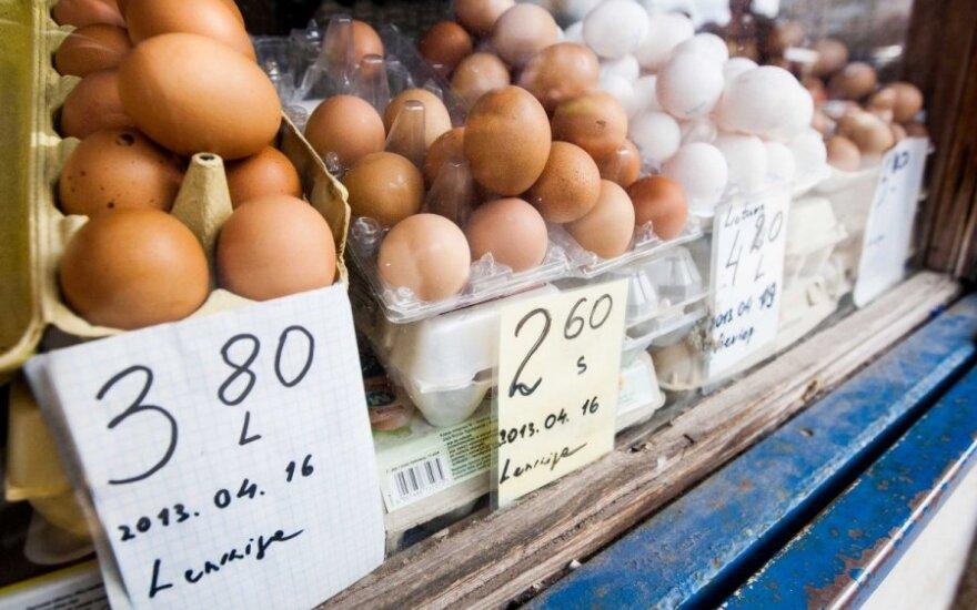Kalvarijų turguje pardavinėjami kiaušiniai