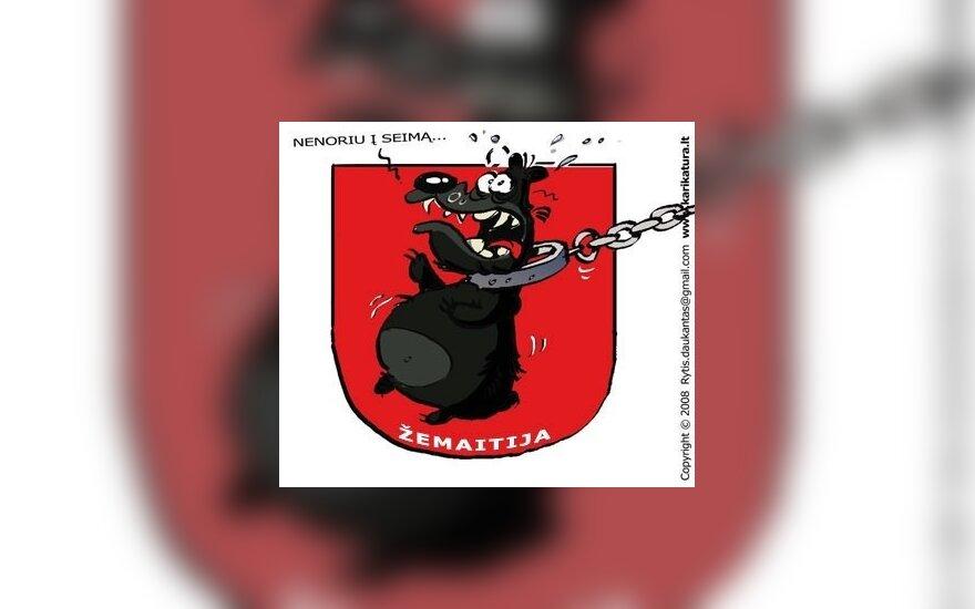 Žemaičiai, Žemaičių partija, karikatūra