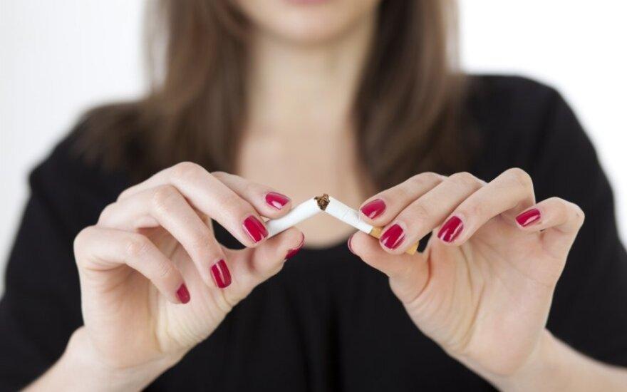 Kokios ligos riziką padvigubina viena cigaretė per dieną?