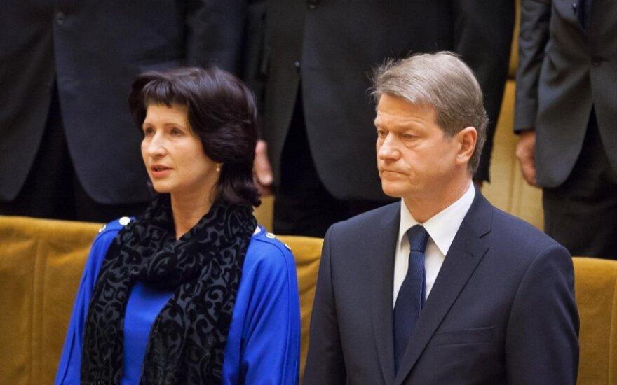 Rolandas Paksas su žmona