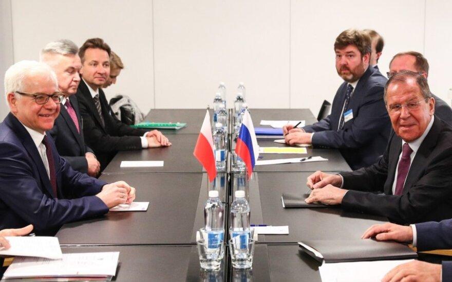 Sergėjus Lavrovas susitinka su Jaceku Czaputowicziumi