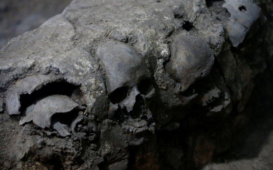Meksike atrastos senovinių actekų rūmų liekanos