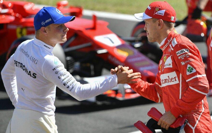 Valtteri Bottas ir Sebastianas Vettelis
