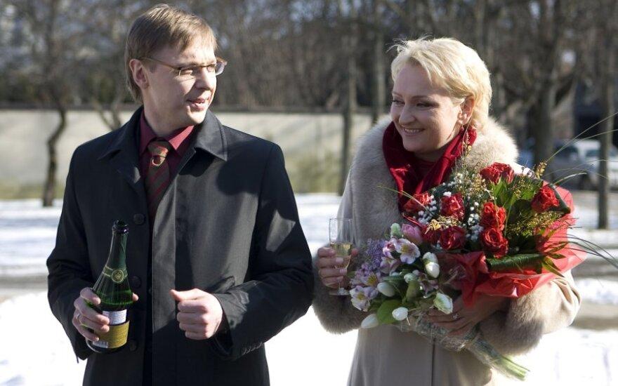 Aurimo Žvinio ir Ingos Norkutės-Žvinienės santuokos ceremonija