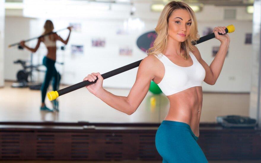 Smagi treniruotė giliesiems raumenims