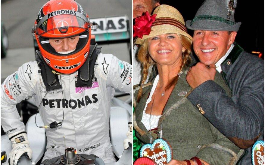 Michaelis Schumacheris, žmona Corinna ir Michaelis Schumacheris