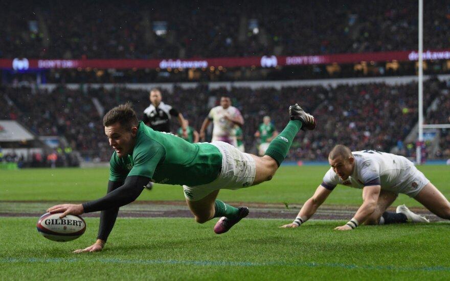 """""""Šešių nacijų"""" turnyro akistata: Airija - Anglija"""