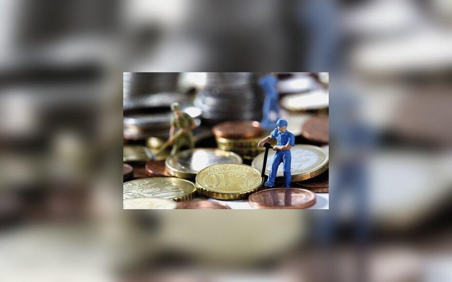 Darbuotojai, atlyginimas, pinigai