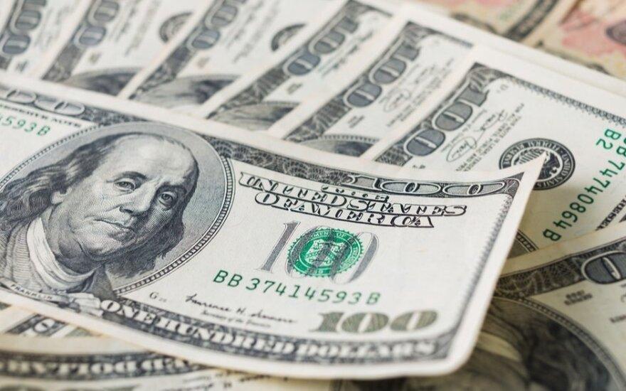 JAV doleris pinga pagrindinių pasaulio valiutų atžvilgiu