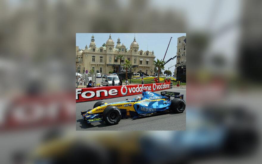 "Fernando Alonso (""Renault"") Monako trasoje"