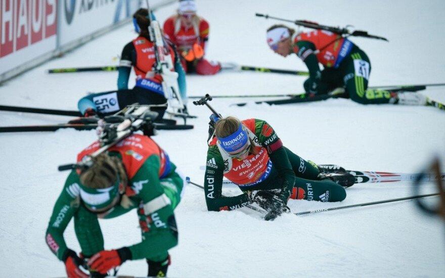 Lietuvės finišavo pačioje pasaulio biatlono taurės etapo uodegoje