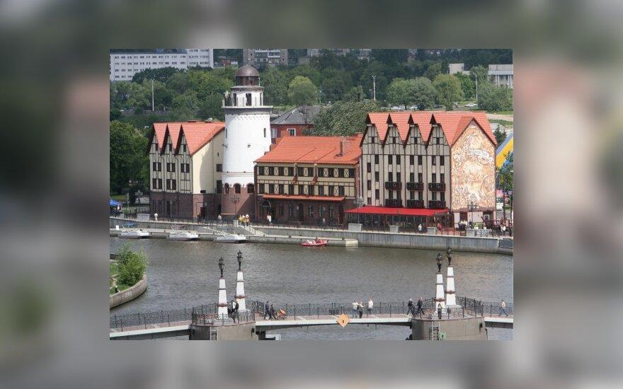 Kaliningrade - mitingas prieš vokiečių statinių perdavimą Ortodoksų Bažnyčiai