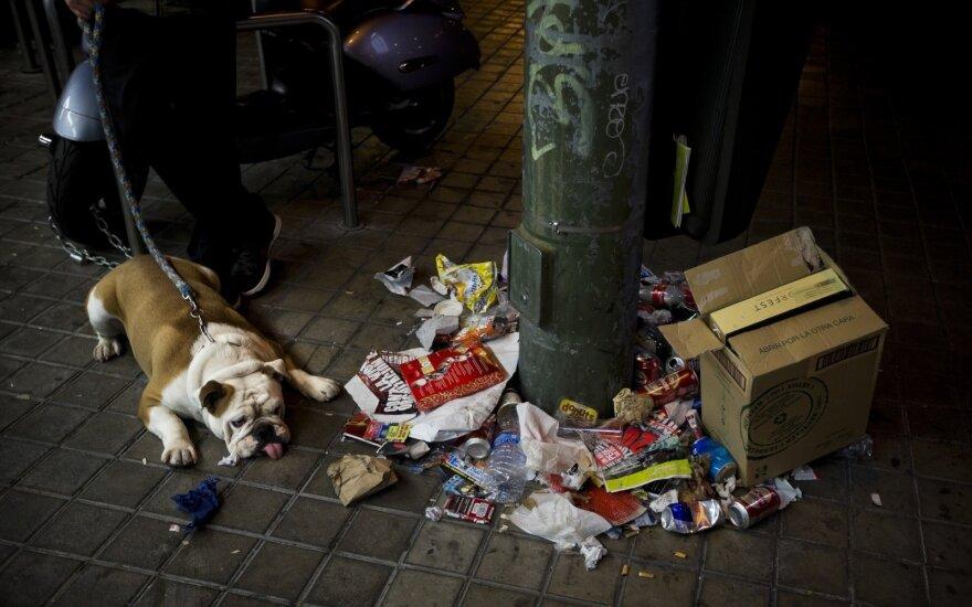 Madridas skęsta šiukšlėse