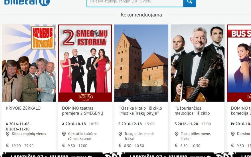 """Estijos """"Baltic Ticket Holdings"""" prašo leidimo įsigyti """"Bilietai LT"""""""