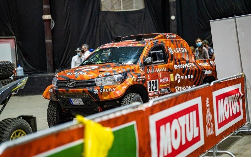 Dakaro ralis prasideda: pamatykite lietuvius ant varžybų podiumo
