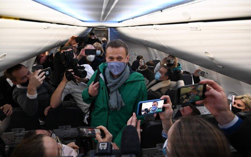 Navalnas grįžta į Maskvą
