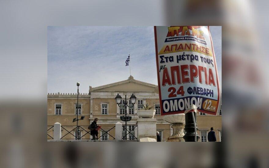 Graikai protestuoja prieš vyriausybės taupymo planus