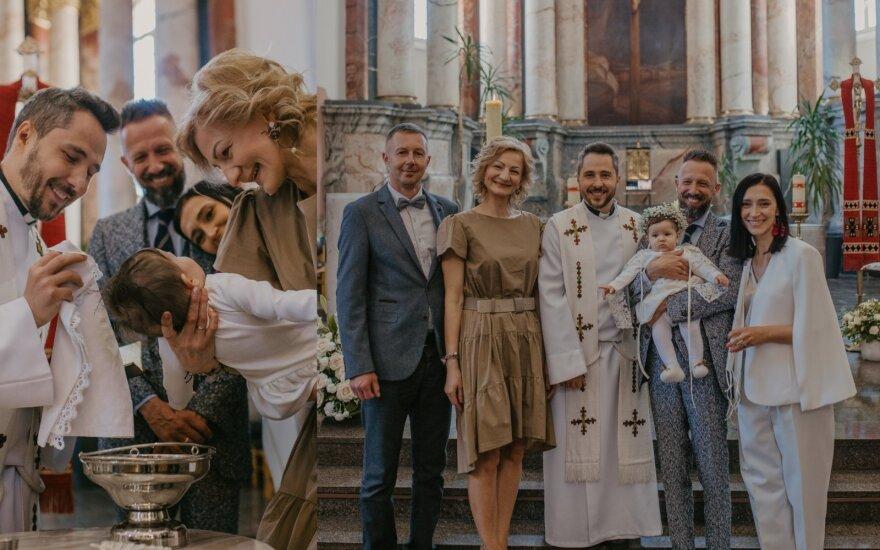 Lino Adomaičio dukrelės Saulės krikšto akimirka/Druska Photography