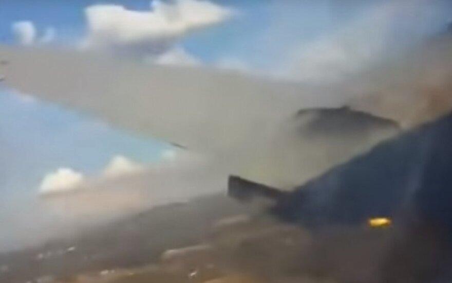 Keleivis nufilmavo paskutines akimirkas prieš lėktuvo katastrofą