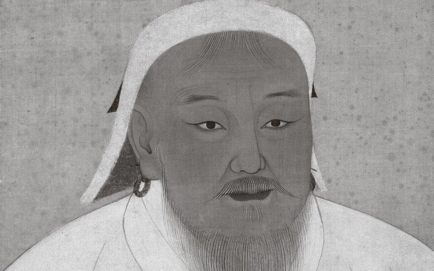 Čingischanas, XIV a. piešinys
