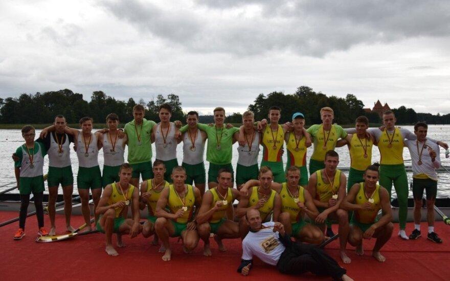 Lietuvos irklavimo čempionato prizininkai (Foto: Asta Zablockytė)