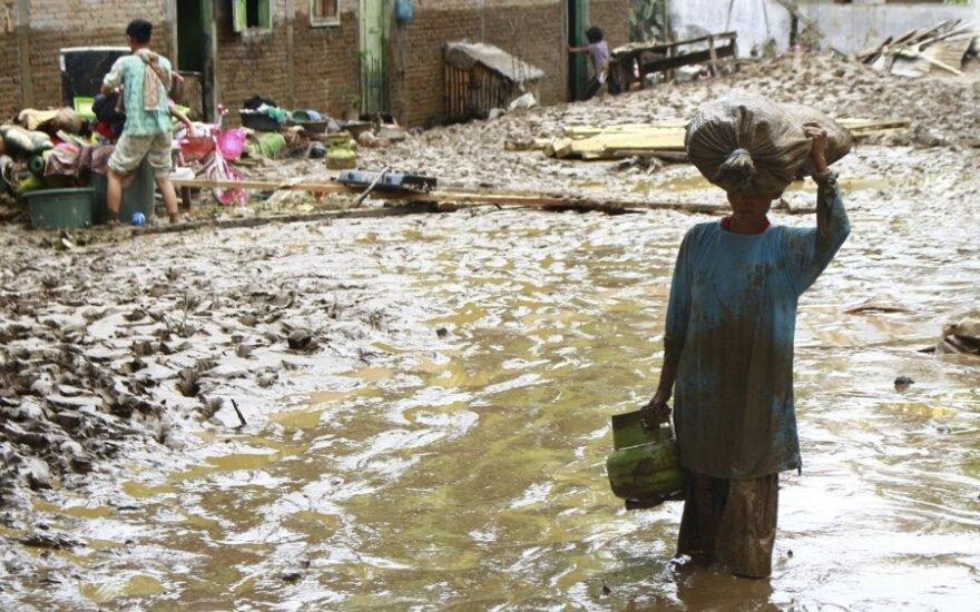 Indonezijoje per staigius potvynius žuvo 9 žmonės