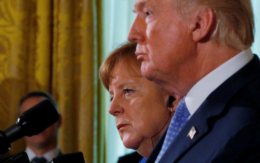 Angela Merkel, Donaldas Trumpas