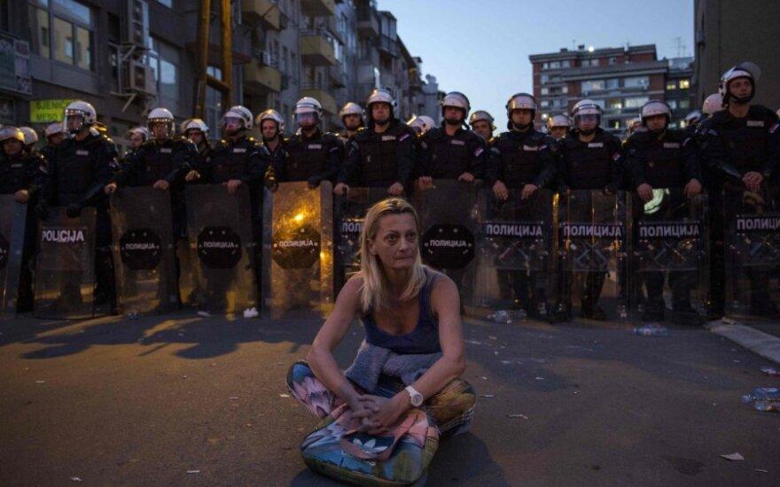 Antivyriausybinis protestas Belgrade