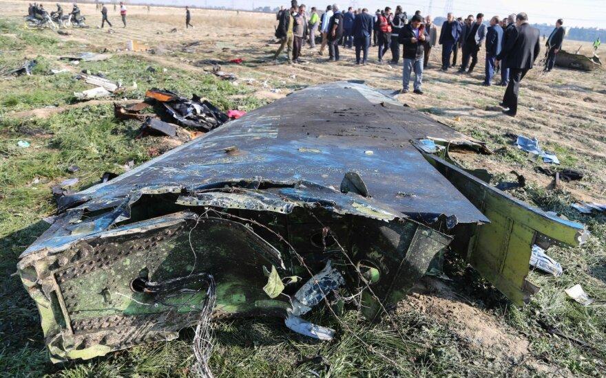 Dėl numušto lėktuvo Irane sulaikyta keletas asmenų